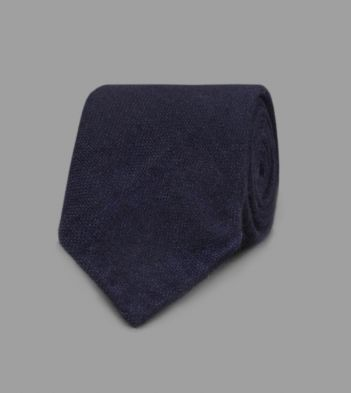 Navy Pure Cashmere Solid Tie