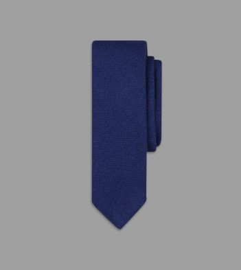 Light Navy Pure Cashmere Solid Tie