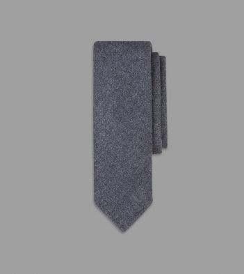 Grey Pure Cashmere Solid Tie