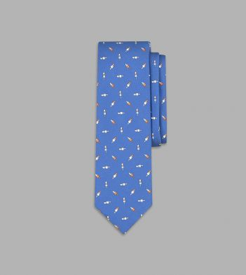 Blue Ice Lolly Print Silk Tie