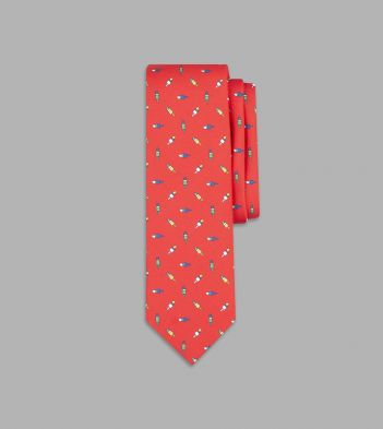 Red Ice Lolly Print Silk Tie