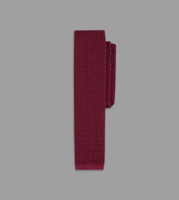 Light Wine Knitted Silk Solid Colour Tie