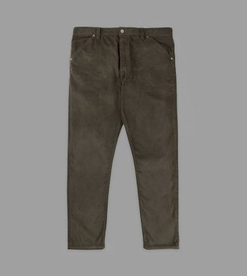 Forest Green Japanese Selvedge Corduroy Five-Pocket Trousers
