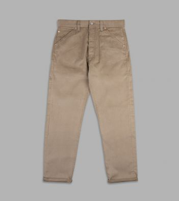 Khaki Japanese Selvedge Corduroy Five-Pocket Trousers