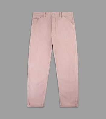 Rose Pink Japanese Selvedge Corduroy Five-Pocket Trousers