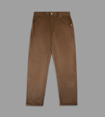 Tan Japanese Selvedge Needlecord Five-Pocket Trousers
