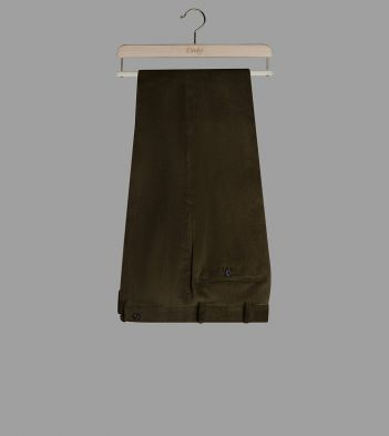 Green Mid-Wale Corduroy Trousers
