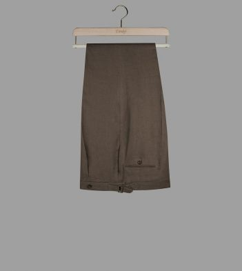 Olive Linen Tailored Trousers