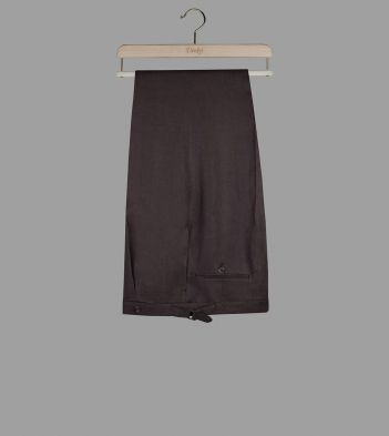 Brown Linen Tailored Trousers