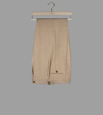 Sand Linen Tailored Trousers